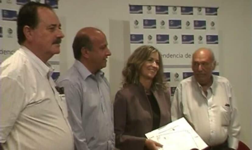 Con Leonardo Garet, Germán Coitño y Jorge Albistur