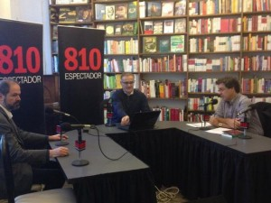 Juan Villoro en la entrevista para Radio Espectador