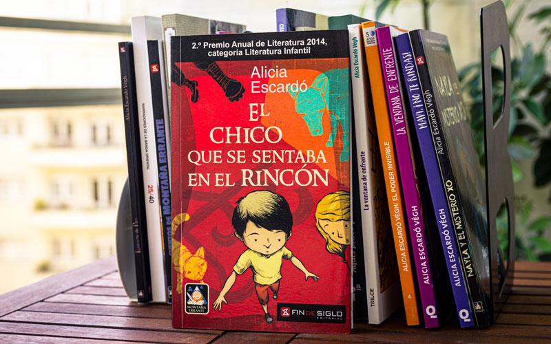 El chico que se sentaba en el rincón, escrito por Alicia Escardó Végh